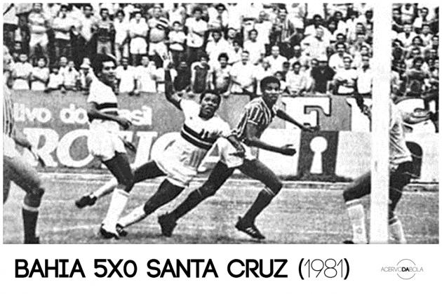 Bahia 5×0 Santa Cruz – Um jogo de azar para o craque Dadá Maravilha