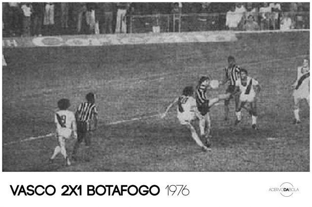 """Vasco 2×1 Botafogo – A virada com o """"gol de lençol"""" de Dinamite em 1976"""